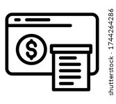 web page payment icon. outline...