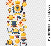 awards and trophies  icons... | Shutterstock .eps vector #174427298