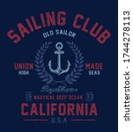 vintage nautical graphics and...   Shutterstock .eps vector #1744278113