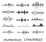 vector sound waves set. audio... | Shutterstock .eps vector #1744290023