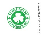 st patrick day grunge ink stamp | Shutterstock .eps vector #1744297310