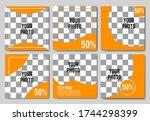 social media post template...   Shutterstock .eps vector #1744298399