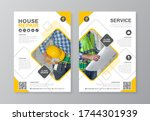 construction tools cover  back... | Shutterstock .eps vector #1744301939