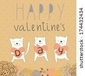card for valentine's day with... | Shutterstock .eps vector #174432434