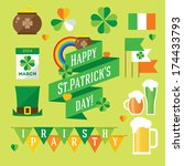 happy st. patrick's day vector... | Shutterstock .eps vector #174433793