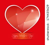 heart for valentines day  | Shutterstock .eps vector #174435629