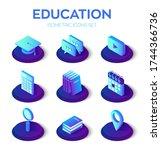 Education Isons Set. 3d...