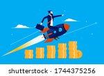 startup success   businessman...   Shutterstock .eps vector #1744375256