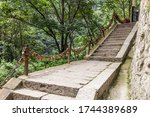 Stairs Leading To The Peaks Of...