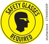 safety glasses required sign... | Shutterstock .eps vector #1744405439