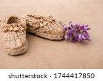 A Closeup Shot Of Kid Shoes...