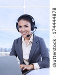 female customer support... | Shutterstock . vector #174444878