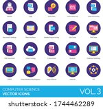 computer science icons...   Shutterstock .eps vector #1744462289