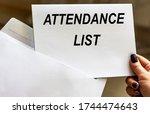 Attendance List Words Written...