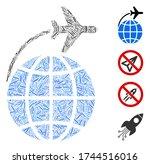 hatch collage international... | Shutterstock .eps vector #1744516016