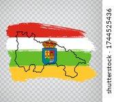 flag of rioja from brush... | Shutterstock .eps vector #1744525436