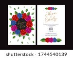 wedding invite  invitation ...   Shutterstock .eps vector #1744540139