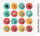 vector multimedia icons | Shutterstock .eps vector #174454214