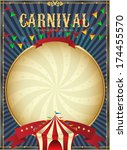vintage carnival. circus poster ... | Shutterstock .eps vector #174455570