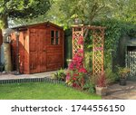 English Back Garden With Shed...