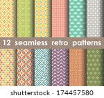 retro pattern units collection... | Shutterstock .eps vector #174457580