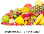 fresh organic fruits | Shutterstock . vector #174459380