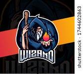 Old Wizard Mascot Esport Logo...