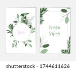 rustic vintage borders of... | Shutterstock .eps vector #1744611626