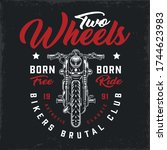 bikers club vintage logotype...   Shutterstock .eps vector #1744623983