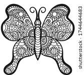 beautiful vector butterfly....   Shutterstock .eps vector #1744644683