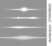 white glowing light explodes on ...   Shutterstock .eps vector #1744648010