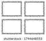 four grungy hand drawn border... | Shutterstock . vector #1744648553