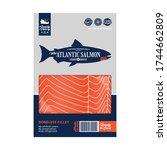 vector atlantic salmon...   Shutterstock .eps vector #1744662809
