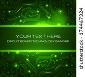 technology banner with space... | Shutterstock .eps vector #174467324