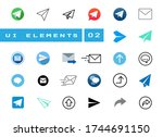 large ui icon set about sending ...