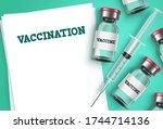 vaccination vector background... | Shutterstock .eps vector #1744714136