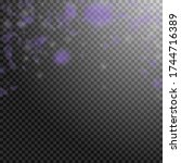 violet flower petals falling...   Shutterstock .eps vector #1744716389