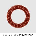 Ancient Runic Frame Circle...