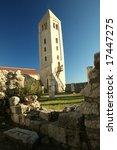 Old tower in Rab,Croatia - stock photo