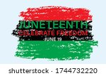 juneteenth freedom day. african ... | Shutterstock .eps vector #1744732220