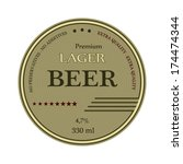 lager beer circle label or... | Shutterstock .eps vector #174474344