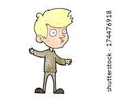 cartoon curious boy | Shutterstock .eps vector #174476918