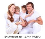 beautiful happy family  ... | Shutterstock . vector #174479390