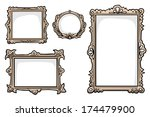 set of 4 hand drawn picture... | Shutterstock .eps vector #174479900