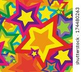 stars pattern   vector | Shutterstock .eps vector #174480263