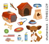 dog food  accessories  toys set.... | Shutterstock .eps vector #1744811129