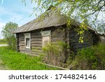 Old Russian Log House At Summe...