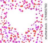 vector symbols of love for... | Shutterstock .eps vector #1744850783