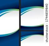 abstract ellipse catalog cover... | Shutterstock .eps vector #1744859840