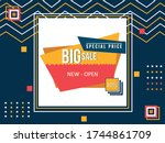 abstract geometric sale banner... | Shutterstock .eps vector #1744861709